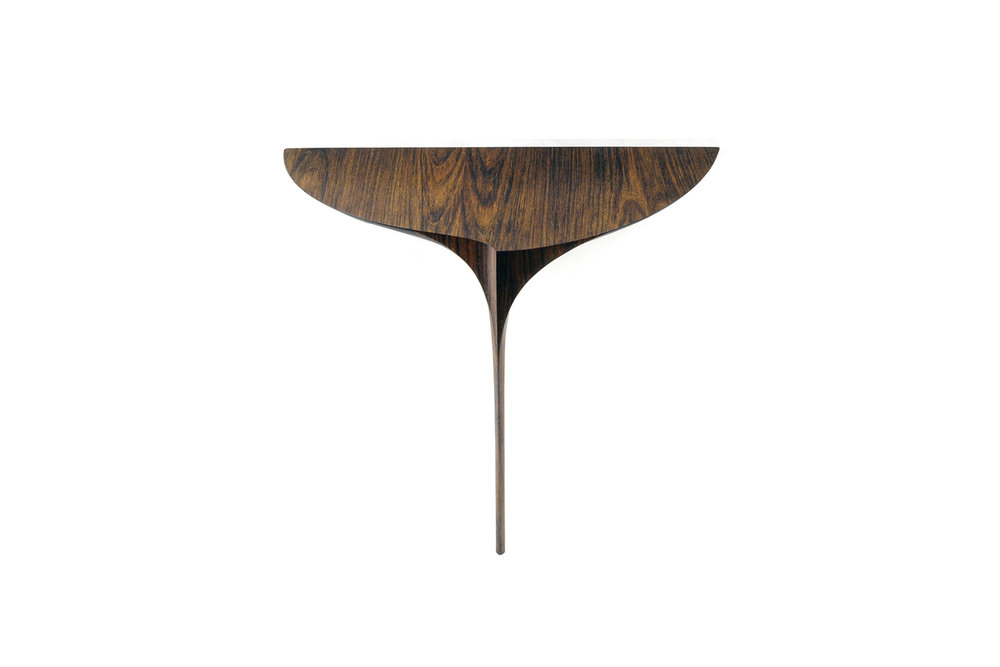 """Heron II"" Table, designed 1990  African Mozambique.  36 x 41 x 20 in."