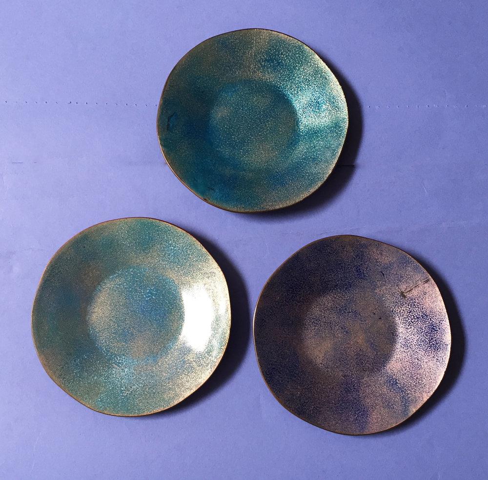 Set of three small dishes, ca. 1960
