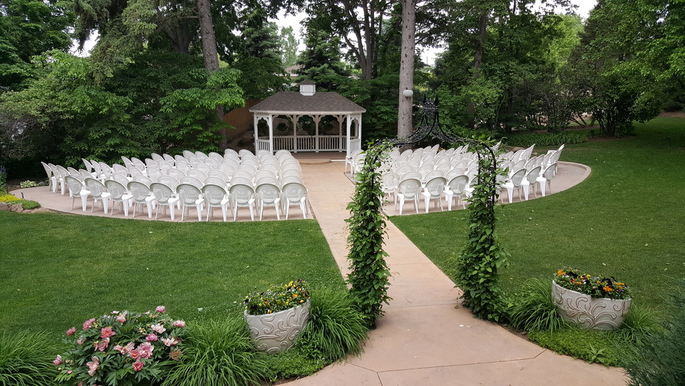 This is the outdoor ceremony space.