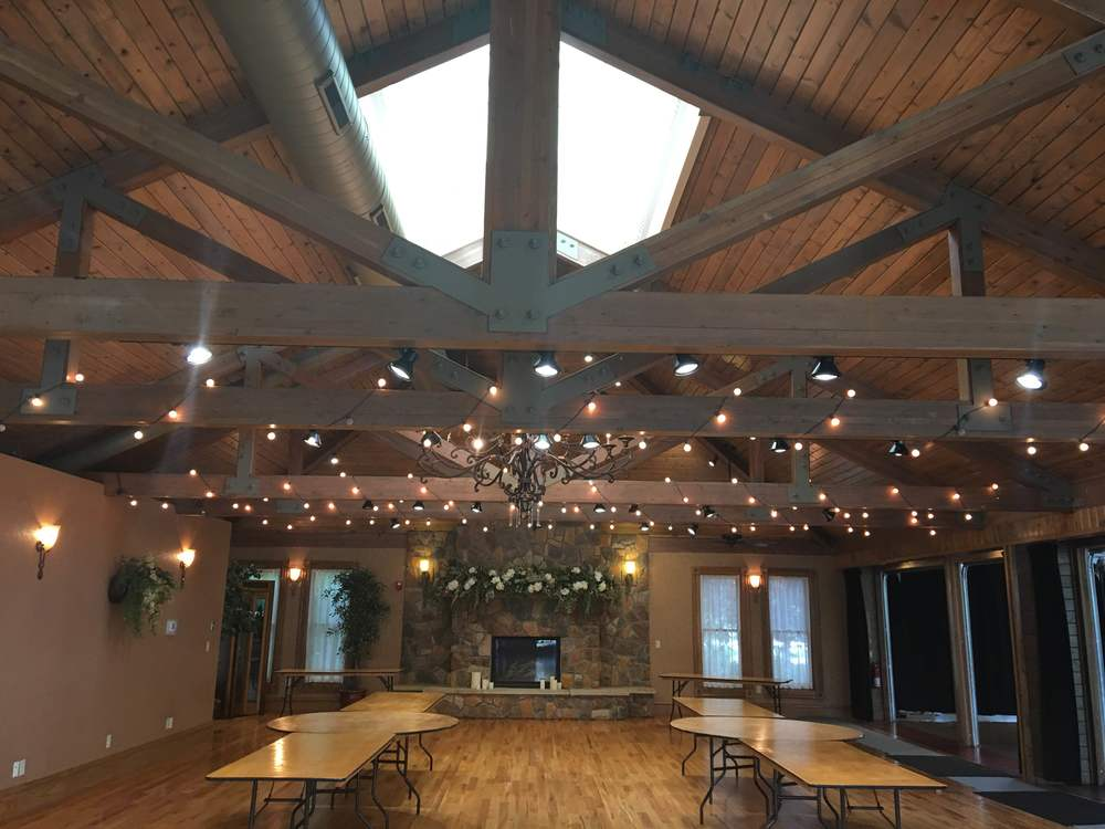 This is one of the spaces that you can hold your reception in, or an indoor ceremony space.