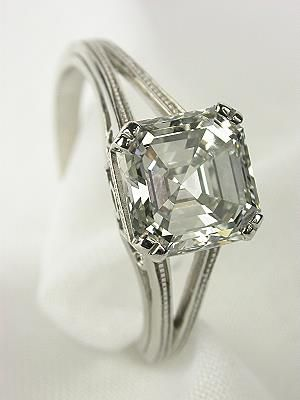 Asscher - For the vintage, art decco bride