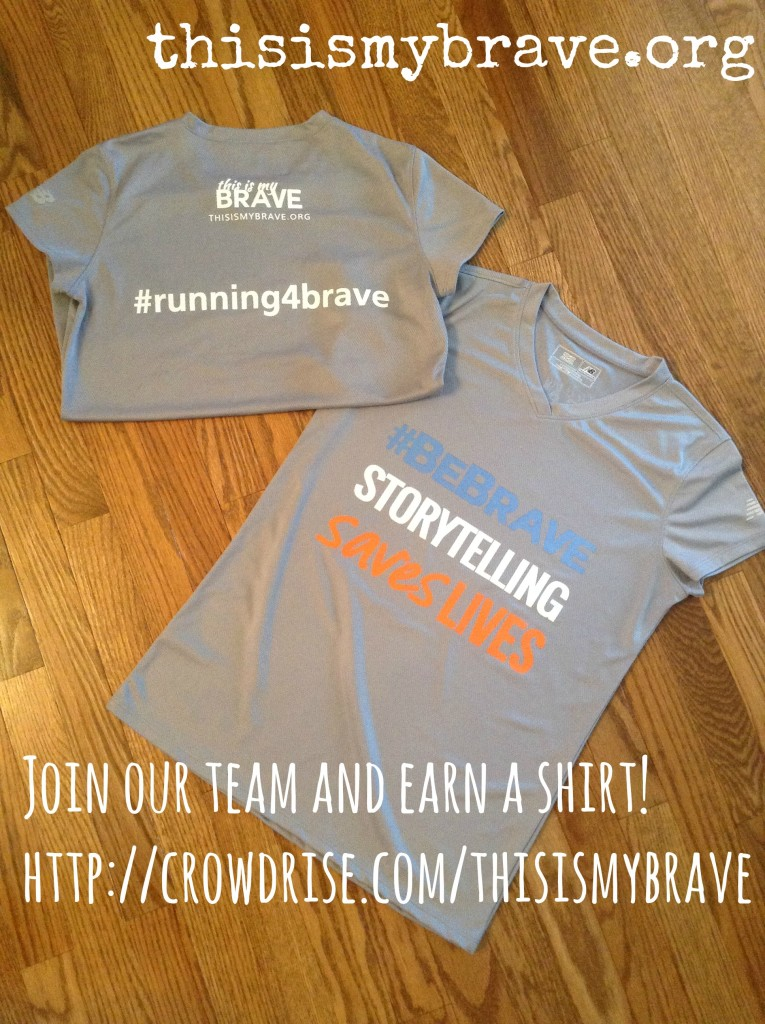 #running4brave performance shirt This Is My Brave
