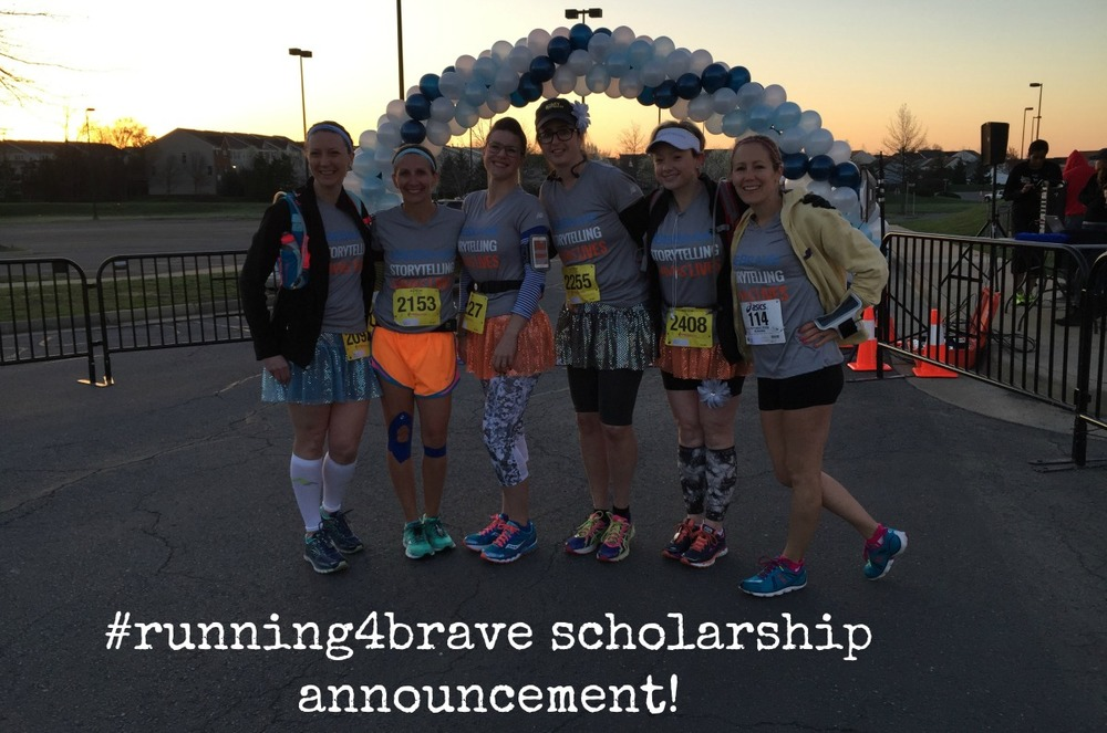 Team #running4brave before the start of the Loudoun Half and 8k in April, 2015.