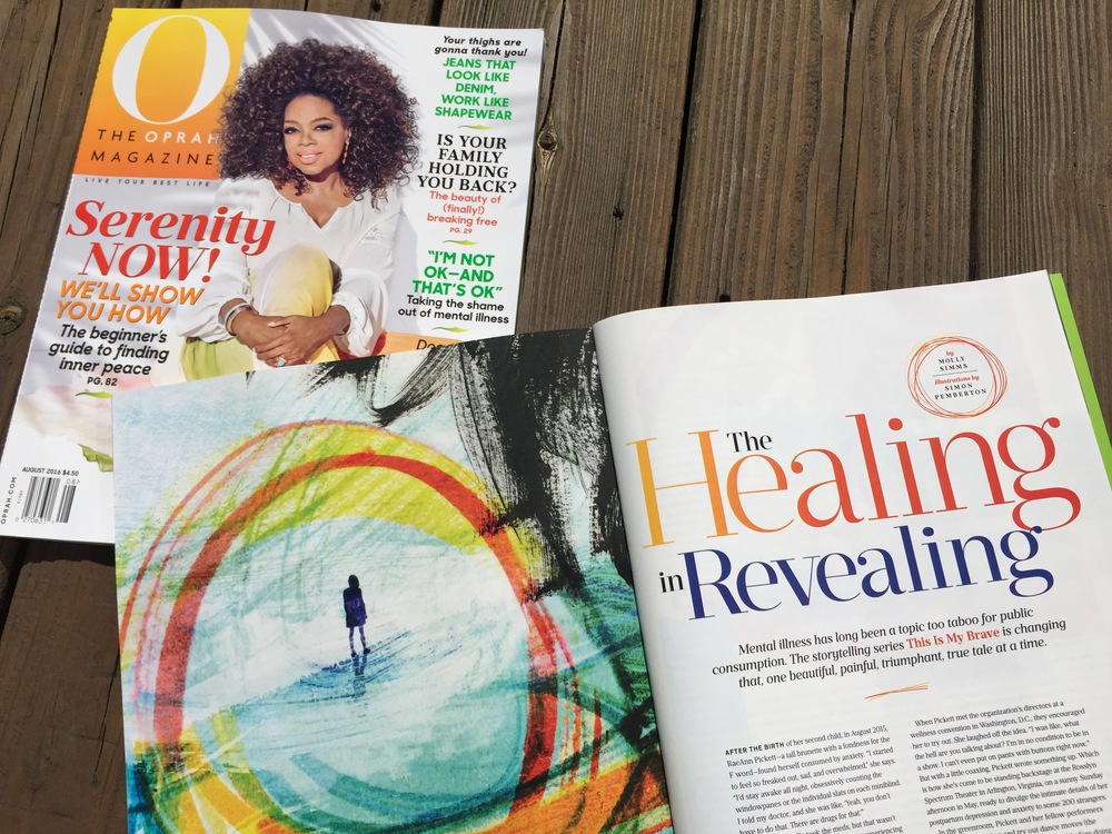 This is my brave in a feature article in the august 2016 issue of o, the oprah magazine