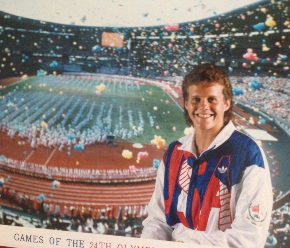 Olympian Amy Gable, 1988
