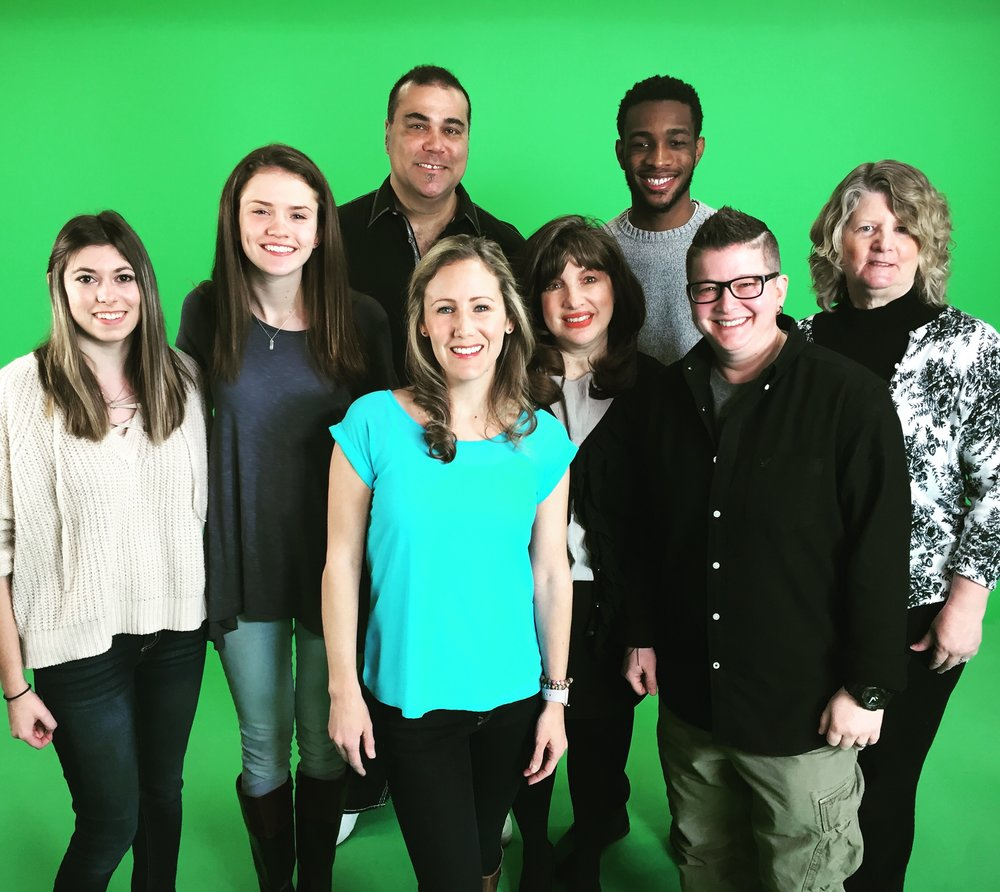 Cast members at the taping of our promo video, March 2016