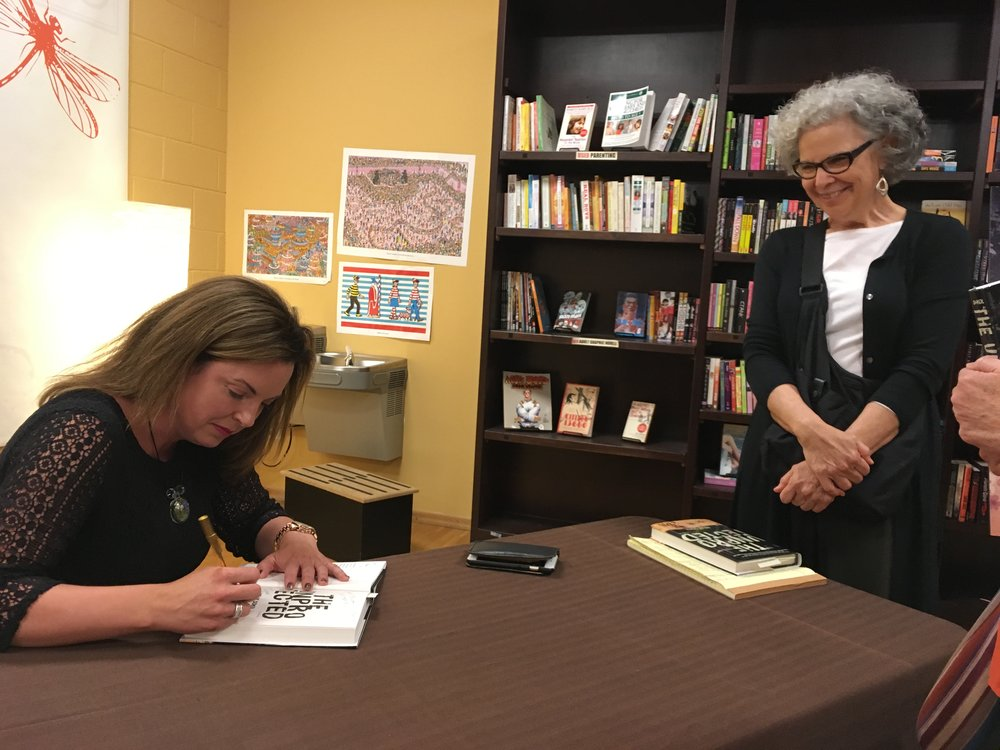 KELLY SIGNS HER JUST-RELEASED DEBUT NOVEL AT HER AUTHOR APPEARANCE AT FLYLEAF BOOKS IN CHAPEL HILL, NC.