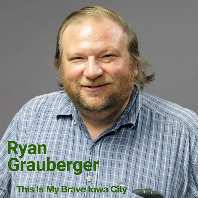 Meet Ryan from This Is My Brave Iowa City! Join Ryan on September 16th as he shares his journey of what it is like to live with mental illness. Click the link in our bio to learn more about Ryan and to get your tickets today!