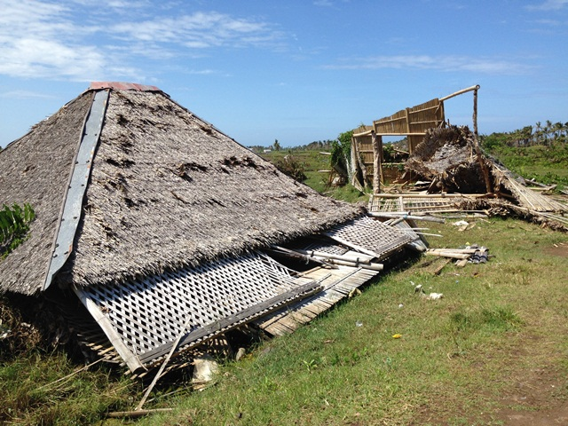 Devastated homes. Photo: Heather Koldewey/ZSL