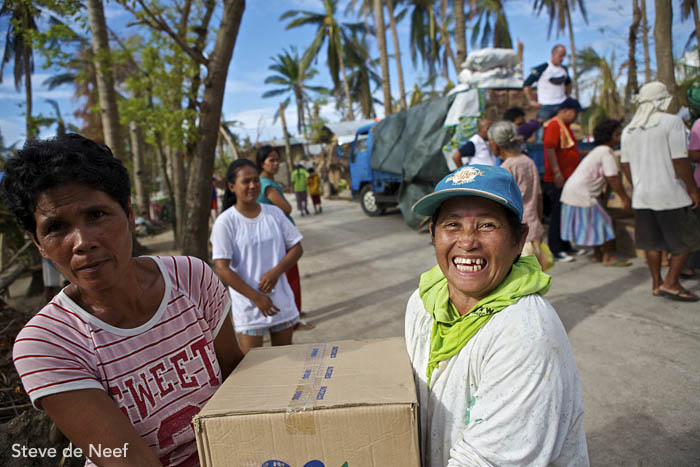 ZSL and Project Seahorse relief operation in Dunganon Bank, Bantayan Island.