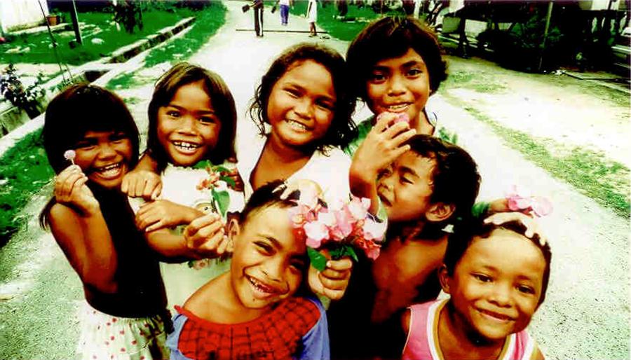 Orang Seletar children in Gelang Patah.Picture: Choo Chee Kuang