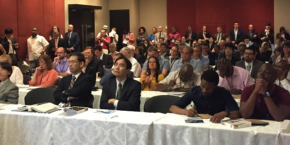 Crowded audience at CITES CoP17 side event on marine fish implementation Sept 2017