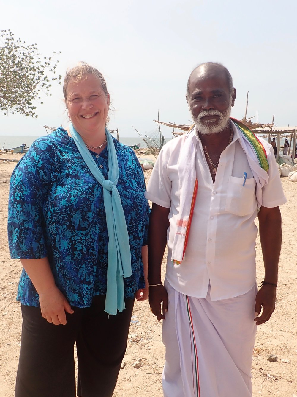 Saveri Anandam, conservation leader, at Vellapatti, Tuticorin area. Photo by Amanda Vincent/Project Seahorse.