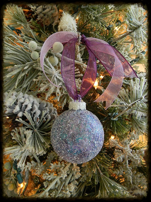 Hand Painted Glitter Christmas Ornament Sugar Creek Home Decor