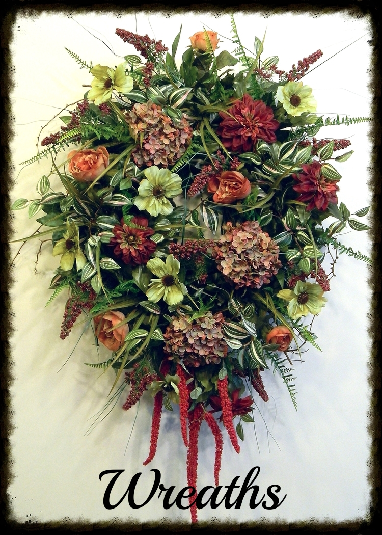 Designer Silk Floral Wall Swags Summer Door Wreaths Sugar Creek