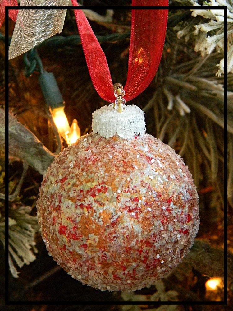 unique tuscan glass christmas ornaments
