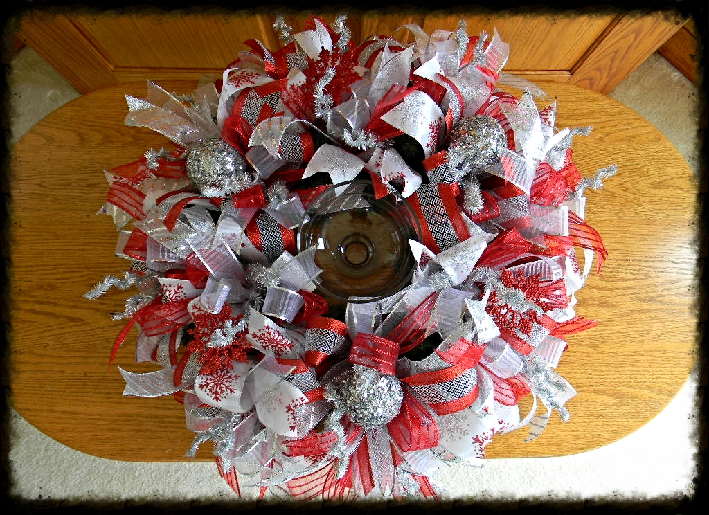 Christmas Wreath Centerpiece Sugar Creek Home Decor