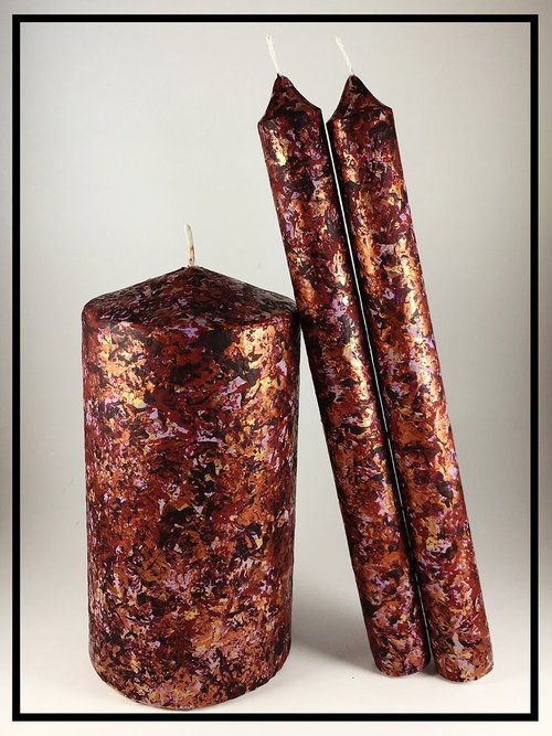 Fall Table Decorations Pillar And Taper Candles Sugar Creek Home Decor