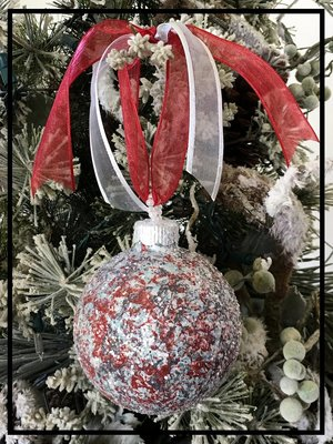 country primitive christmas ornament