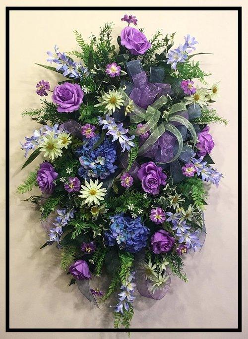 Silk flower wreath for door sugar creek home decor silk flower wreath for door mightylinksfo