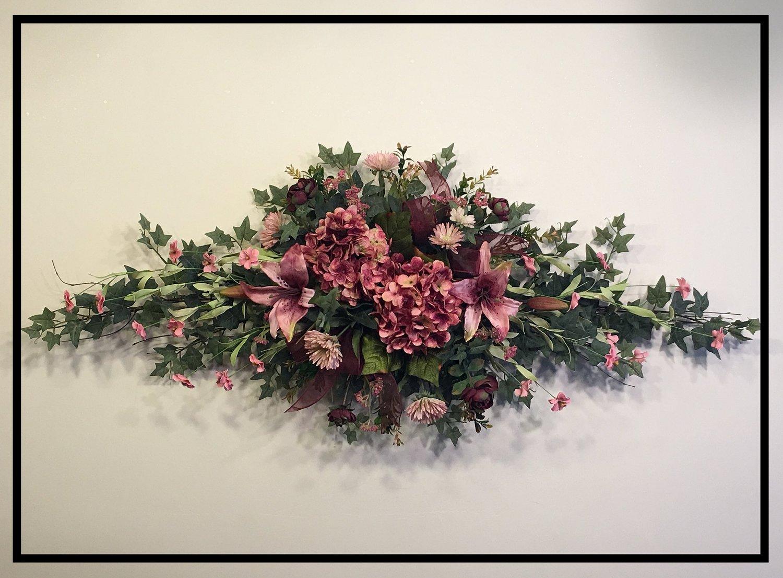 Hydrangea Silk Flower Wall Swag Sugar Creek Home Decor