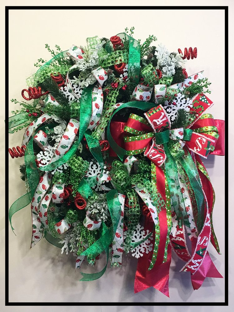 whimsical designer christmas wreath