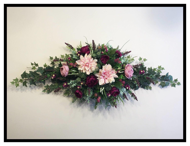 Elegant Floral Wall Swag | Sugar Creek Home Decor