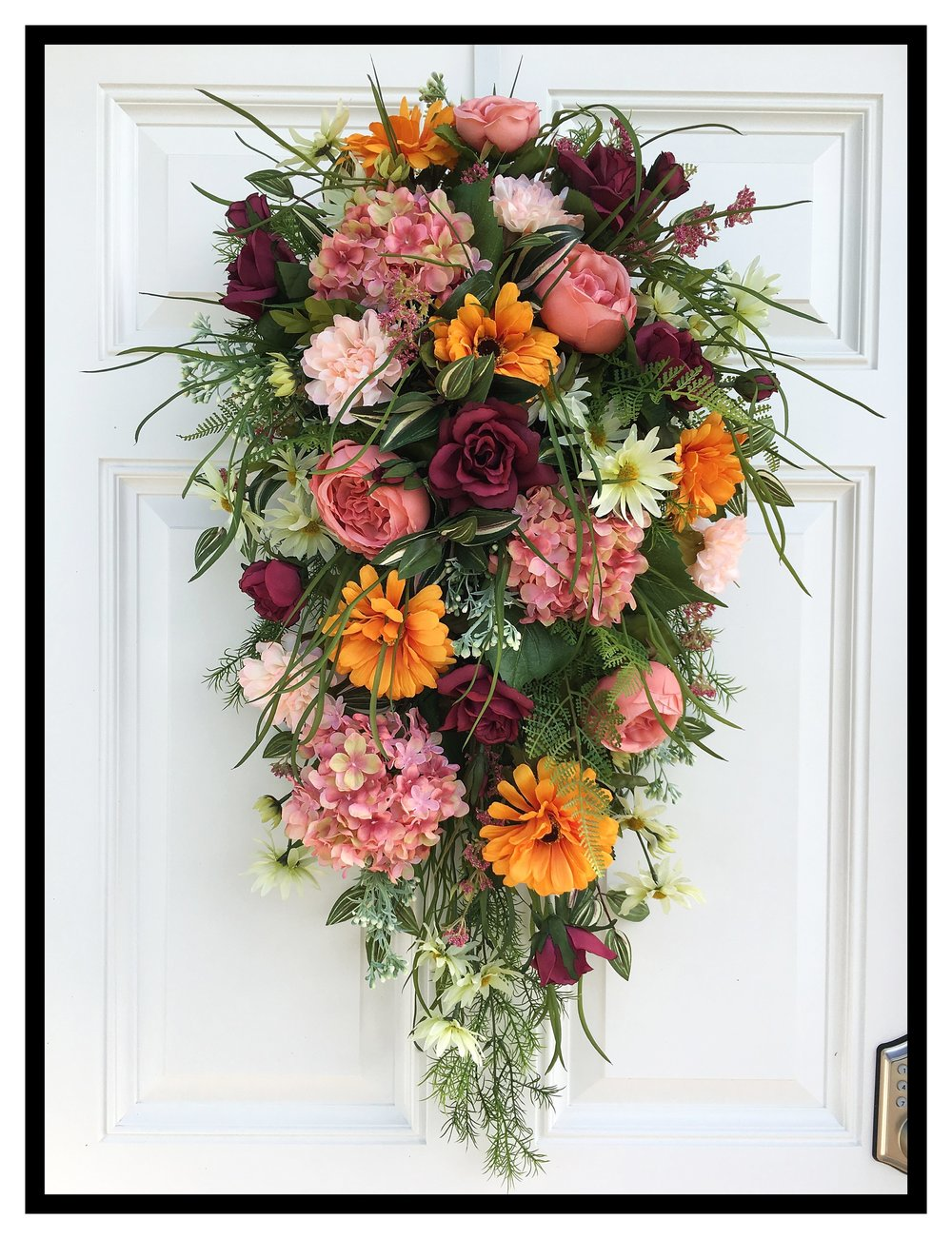 Summer Wreaths Front Door Swags Decorative Floral Summer
