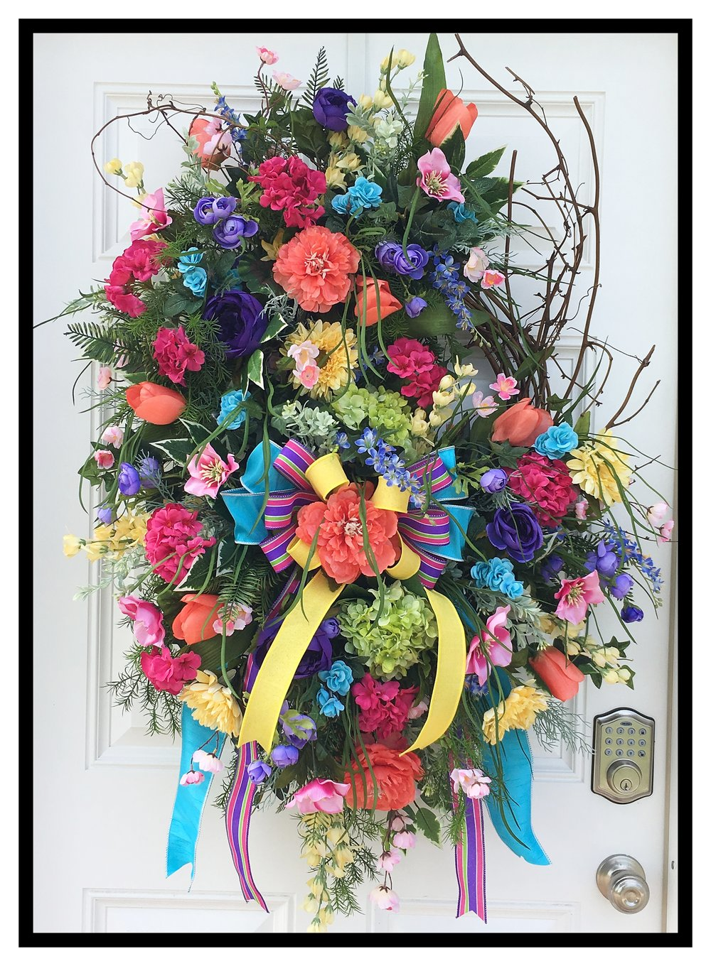 Designer Floral Door Wreaths Decorative Front Door Wreaths Home