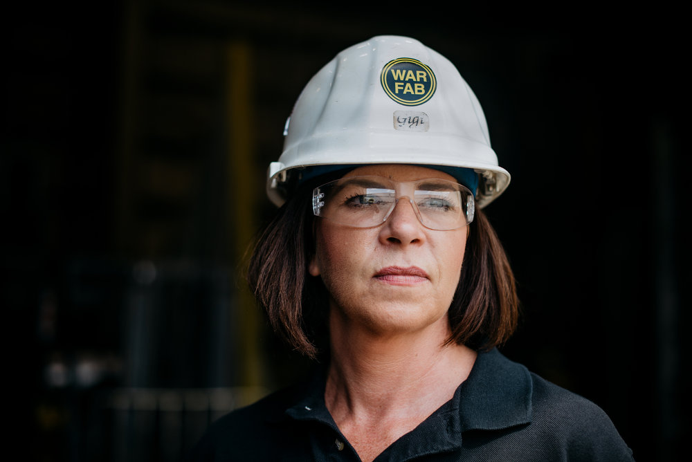Regina Rebhan Mitchell, Owner and President of Warren Fabricating and Machining in Warren, Ohio. Her father started the compay in 1966. Dustin Franz for The New York Times