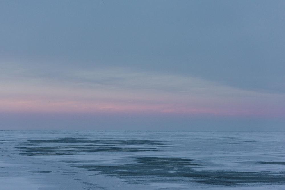 Lake Erie, February 29, 2019. © Dustin Franz