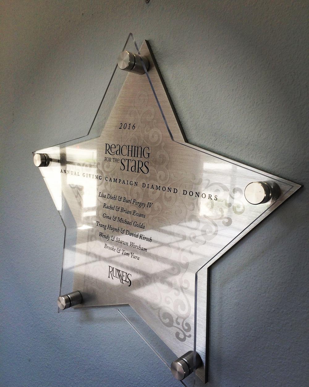 Custom Aluminum shape Donor Plaque