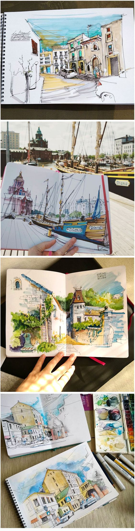 This image is of a beautiful journal created by   Alena Kudriashova