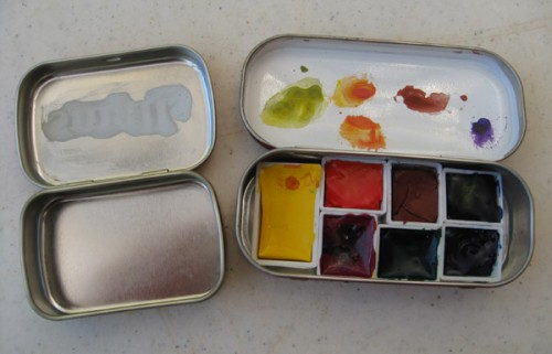 Another  great site  showing instructions for creating a watercolor travel kit