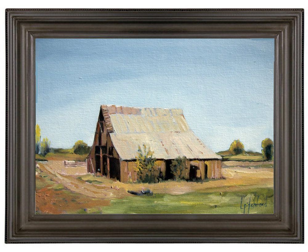 "Mid-July Barn - Springville, Utah 9x12"" purhcase here:  https://www.etsy.com/your/shops/utahn"