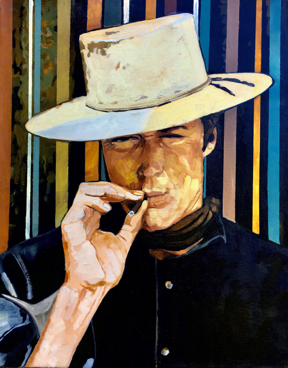 I   conic spaghetti western imagery - Clint Eastwood in Hang em High.