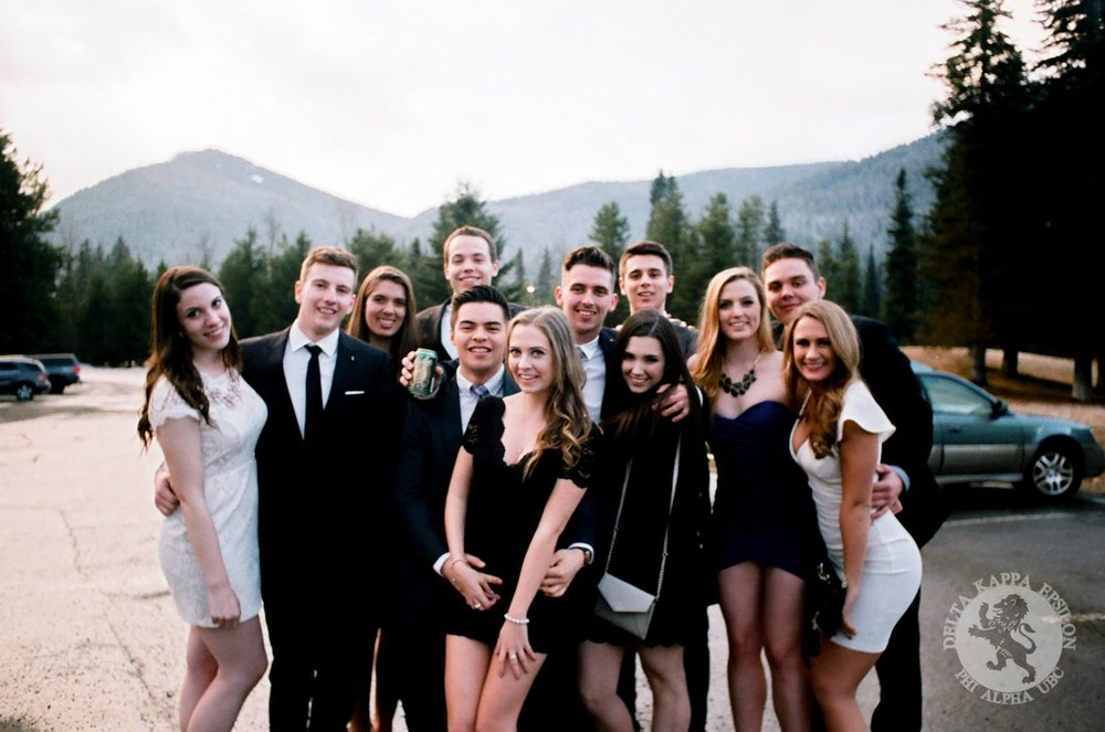 Brothers and their dates at our annual ∆KE Formal at Manning Park Resort.