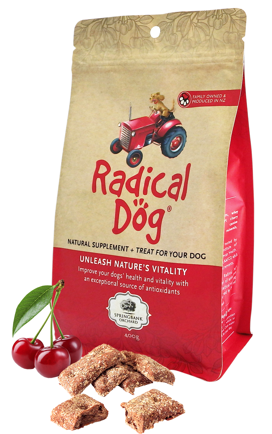 Radical Dog natural dog biscuits packaging