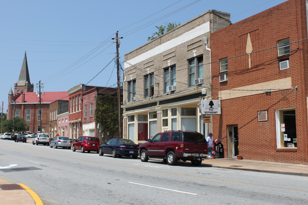 UPDATE: Historic Macon published a walking tour of borchure of Cotton Avenue District in February 2016 to raise awareness about this area's historic significance and the intense development pressure the district is experiencing. Although today parts of what was historically known as Cotton Avenue go by different names, portions of the original neighborhood still exist. Cotton Avenue was the primary thoroughfare for cotton bales coming from rural farms into Macon. The gentle downhill slope of this road made it ideal for carts taking the bales down to barges on the Ocmulgee River, where they could be easily transported to gins. Around this thriving agricultural economy many businesses sprang up in the 1800s. During the twentieth century, Jim Crow laws forced African Americans to establish separate business districts in downtown Macon. Cotton Avenue and the nearby streets became one of those districts and grew into a major center of black business with entrepreneurs working as everything from barbers and shoemakers to lawyers and dentists. The first licensed African American attorney in Macon had his office in this area, as did Dr. D.T. Walton, Sr. Walton worked as a dentist, but his contributions as a civil rights activist are what earned him the honor of having the portion of Cotton Avenue where he worked named after him. After integration, black-owned businesses had new competition with the other downtown businesses, and some in this area were forced to close their doors. But one well-known entity opened its doors Cotton Avenue during this time – Capricorn Records. Capricorn Records is known as the label that launched the southern rock genre with records from the Allman Brothers Band, Marshall Tucker, and Wet Willie. Before Phil and Alan Walden established Capricorn though, they partnered with Otis Redding to form Redwal Music. Their office, which was the first integrated office in Macon, was located at 535 Cotton Avenue, because they could not rent space anywhere else downtown. The Cotton Avenue District is under tremendous development pressure. In less than a year, both Tremont Temple Baptist Church and the Charles Douglass House were demolished to make way for new development. The Cotton Avenue District and the existing historic buildings are ideal for new and existing businesses. Additionally, there are several surface parking lots that are well suited for new, higher density developments. Historic Macon Foundation looks forward to working with property owners and neighborhood representatives to ensure the character of the significant neighborhood is not lost forever. UPDATE: Historic Macon has been working to raise awareness and educate the public about this importance and significance of the Cotton Avenue District. On February 27, Historic Macon unveiled a walking tour brochure of the district and held a trolley tour led by George Muhammad. During 2016 Preservation Month, Historic Macon hosted another walking tour of the district.