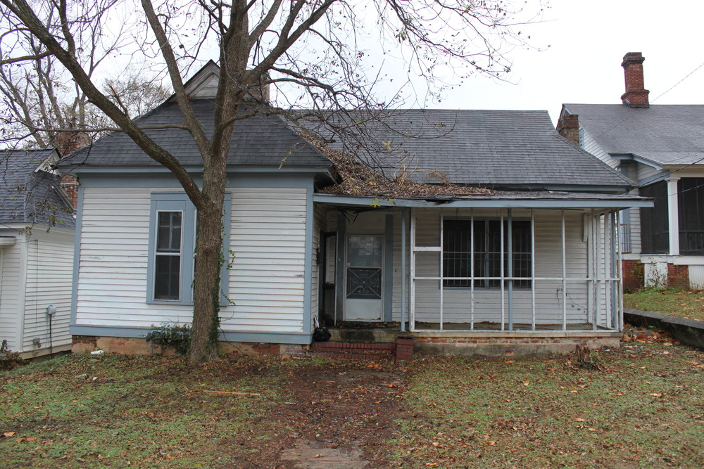 BEFORE: Historic Macon rehabilitated a house in the target 1200 block of Calhoun Street in Beall's Hill.