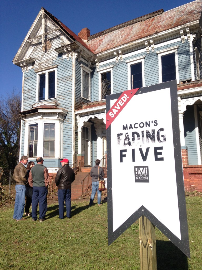 The Ware House at 1107 Oglethorpe Street, a property on 2015's Fading Five, has been purchased by Historic Macon and will be rehabbed as a single-family home.