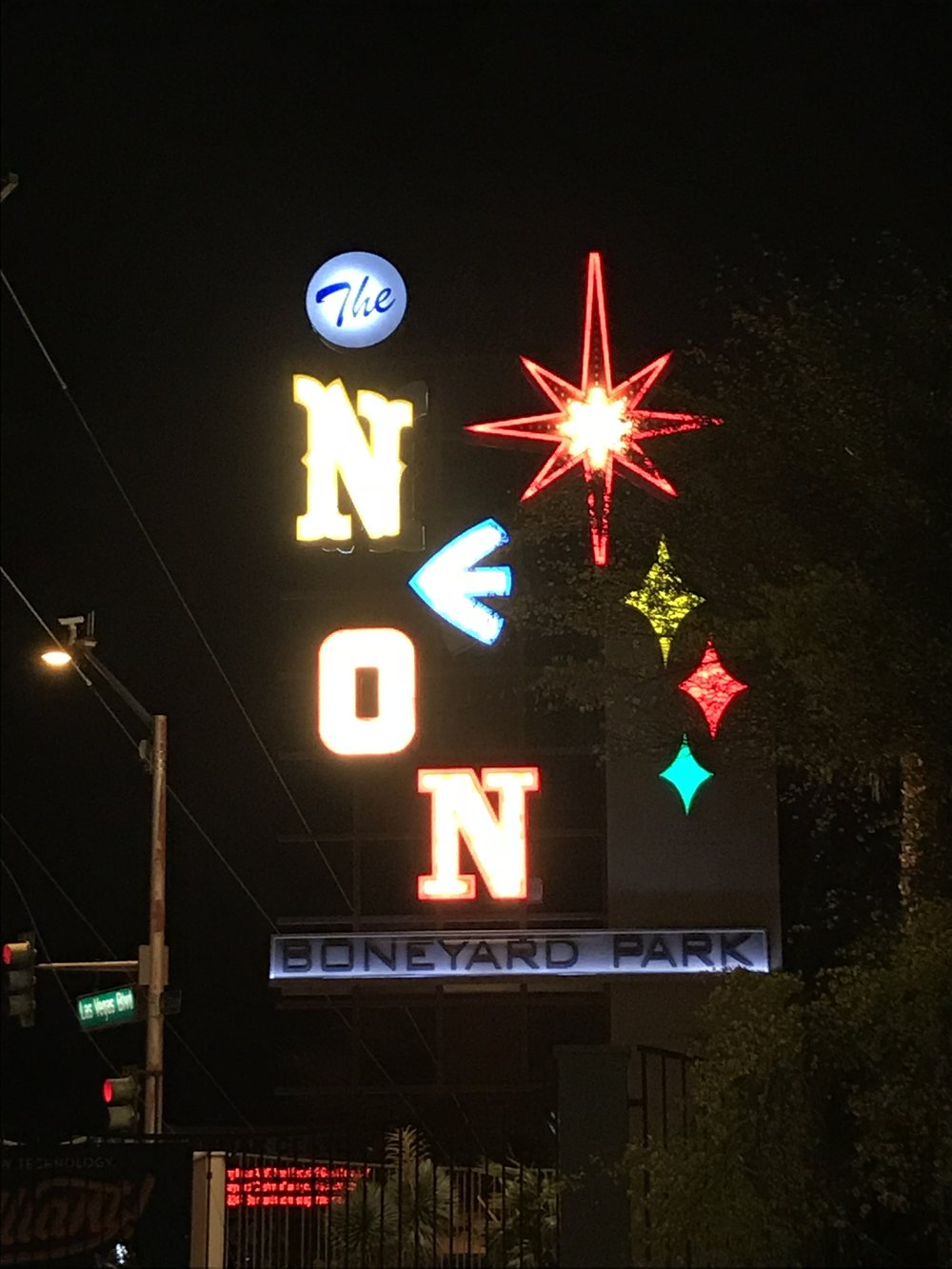The Neon Boneyard originally belonged to YESCO and it became the initial collection of the Neon Museum when the organization was founded in 1996. Today, the museum collects not just neon, but any sign from Las Vegas.  Image by Kim Campbell.