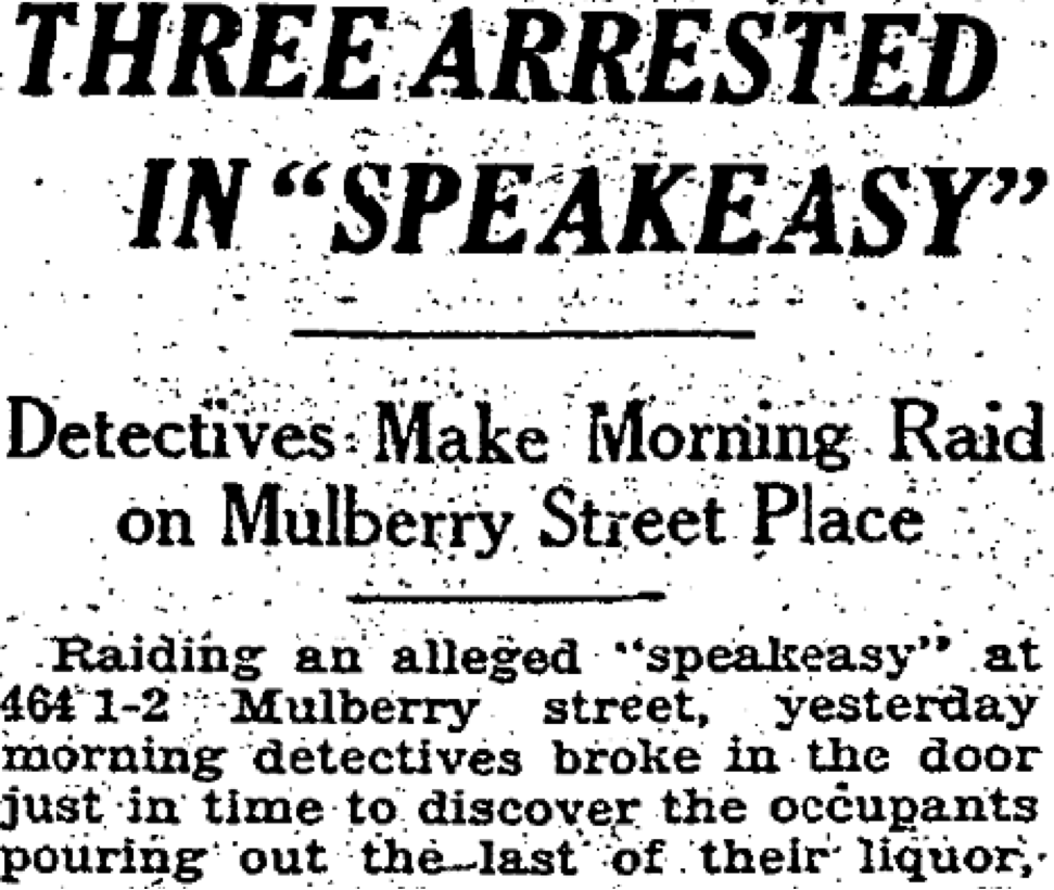 """Three Arrested in Speakeasy,"" The Macon Telegraph (Macon, Ga), 1930."