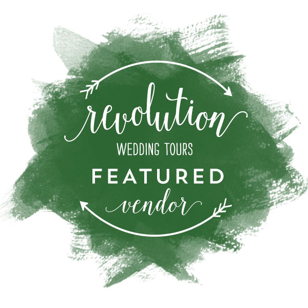 revolution wedding tours featured vendor badge