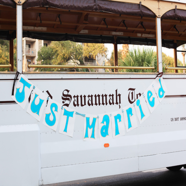 Old Savannah Tours, wedding trolley, trolley tours, wedding transportation, wedding tours