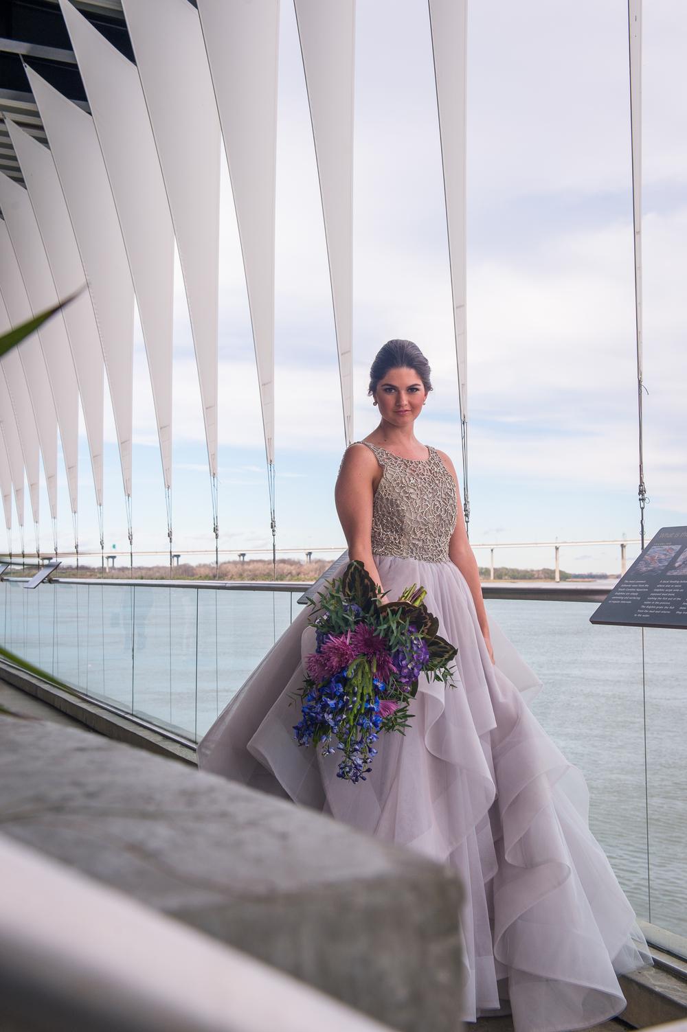 hayley paige lavender gown in charleston, revolution wedding tours, scarlet plan & design