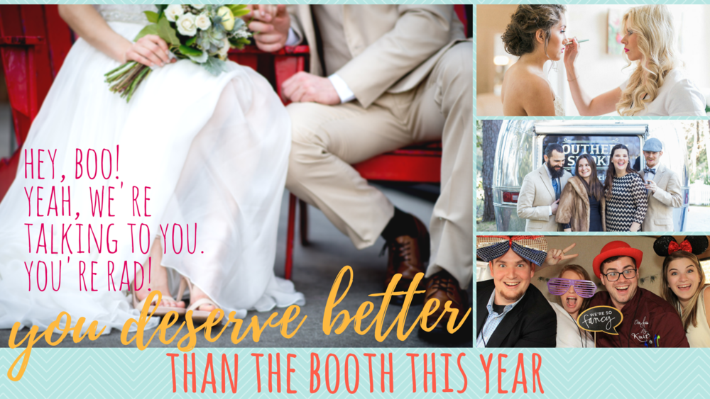 photo credits: Catherine Ann Photography, Click Chick Photography, Little White Box & Jules Photo Atlanta (and, yeah, they're all vendors, even the goofballs in the booth!)