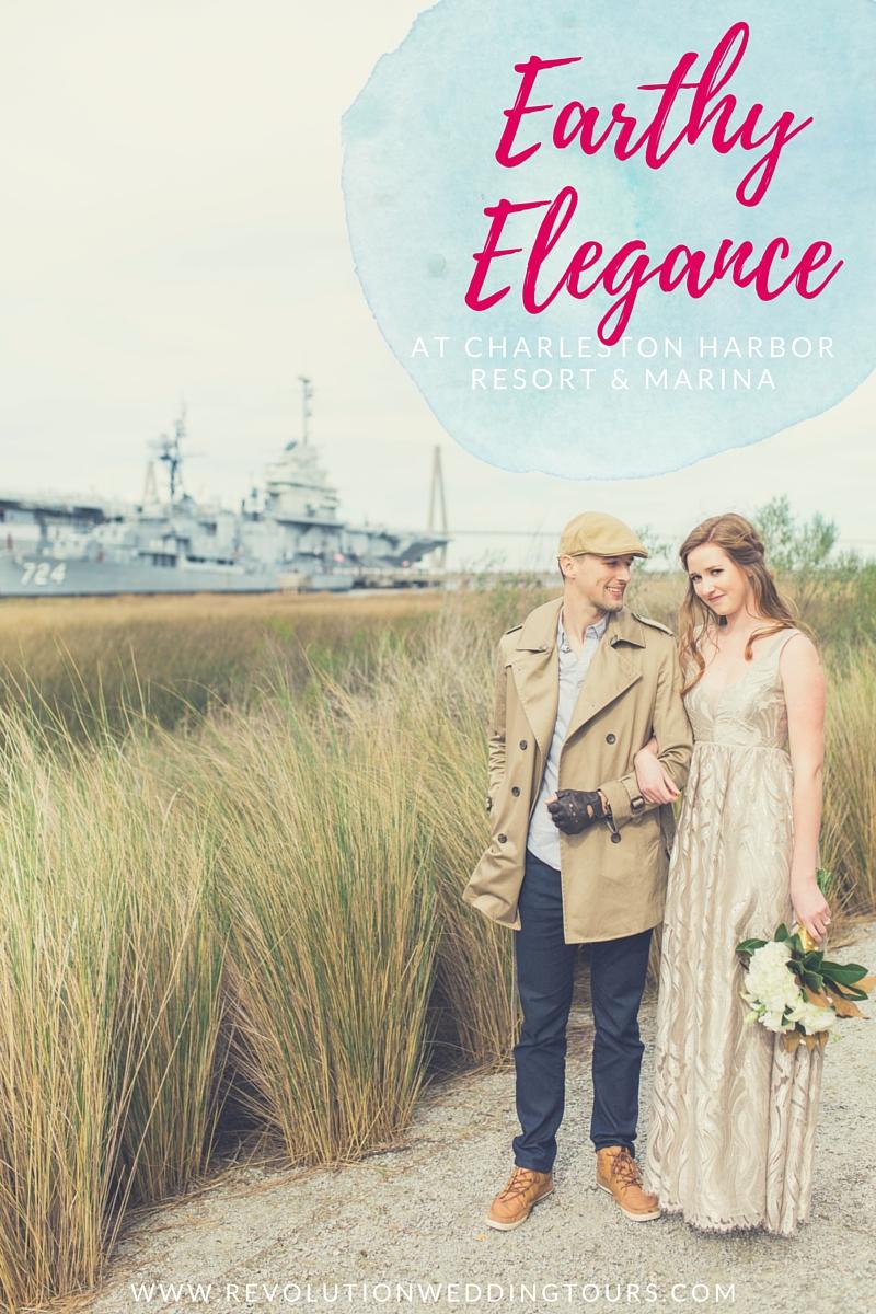 earthy elegance at charleston harbor resort & marina by scarlet plan & design for revolution wedding tours