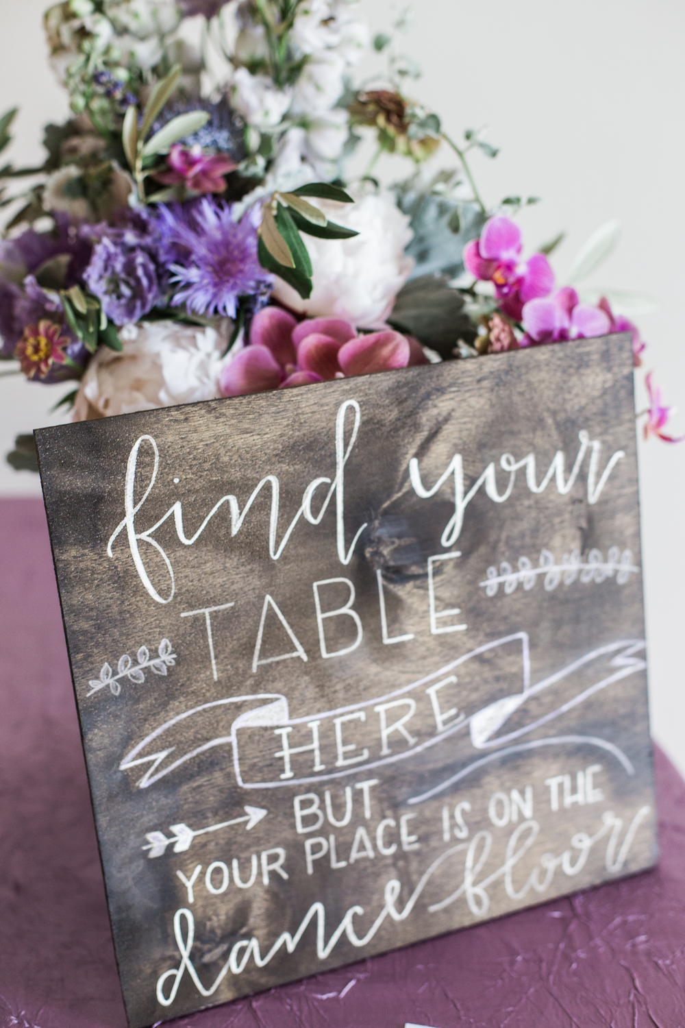 lavender rustic wedding escort card display, placecard sign, cannon green wedding, revolution wedding tours