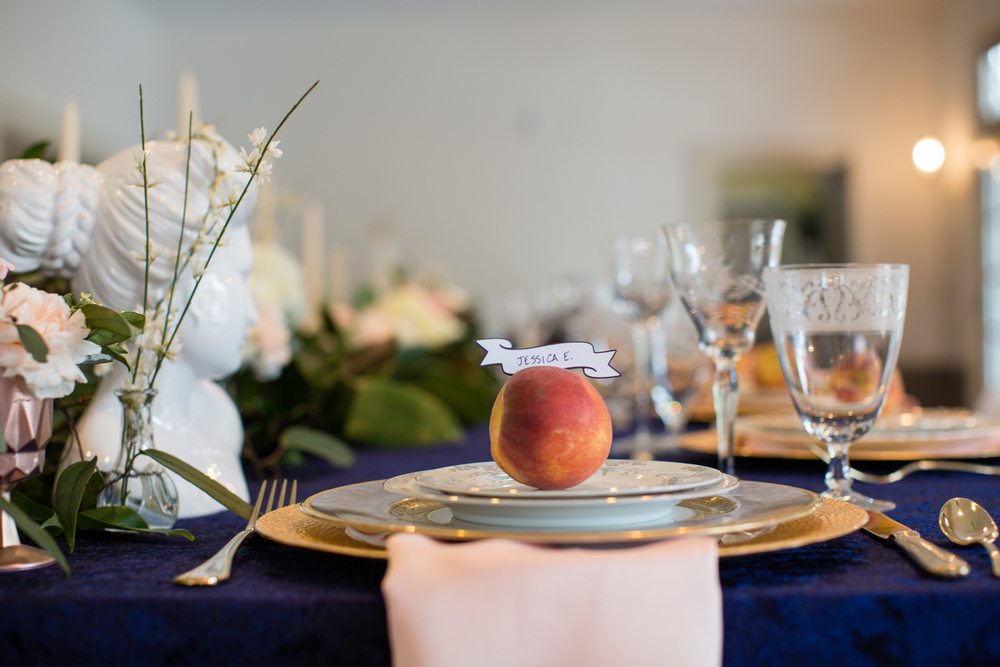 real peach place cards atlanta wedding planner scarlet plan & design | revolution wedding tours